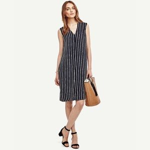 Ann Taylor Striped Sleeveless Shift Dress